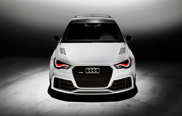 Picture Audi, Auto, Audi, White, Tuning, The hood, quattro, The front