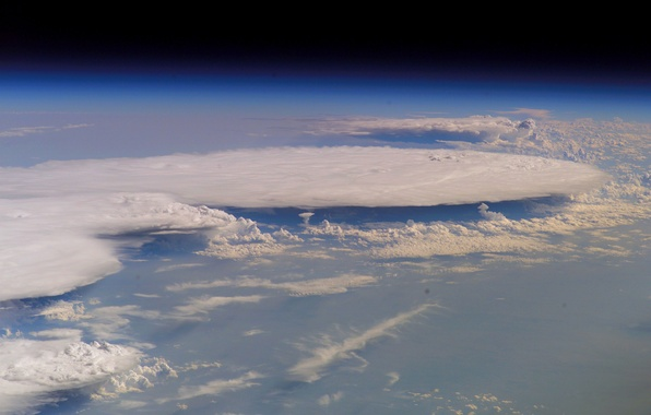 Picture clouds, planet, the atmosphere, Earth