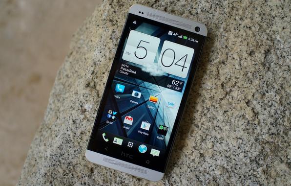 Picture stone, smartphone, htc one