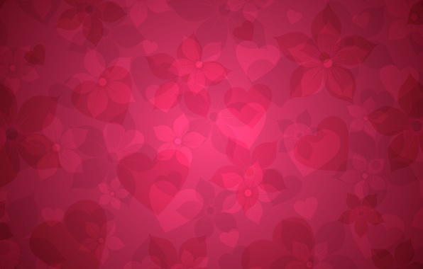 Picture pink, Wallpaper, heart, texture, hearts, flowers. background