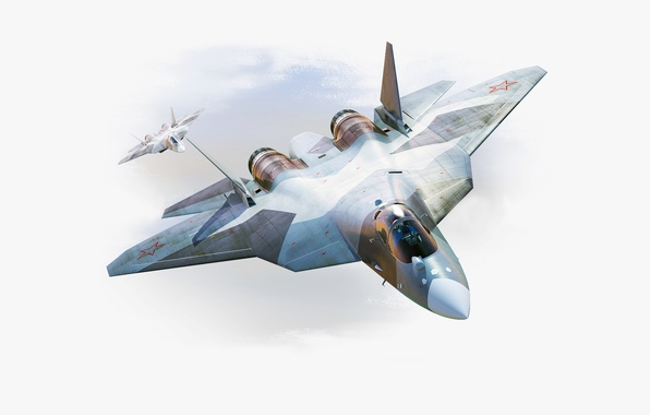 Picture Figure, The plane, fighter, Speed, Wings, Russia, Nose, T-50, Aviation, BBC, multipurpose, Dry, PAK FA, ...