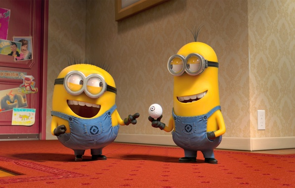Picture movies, cartoon, minions, minion, Despicable Me 2