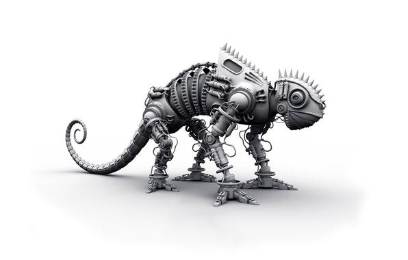 Picture chameleon, Wallpaper, robot