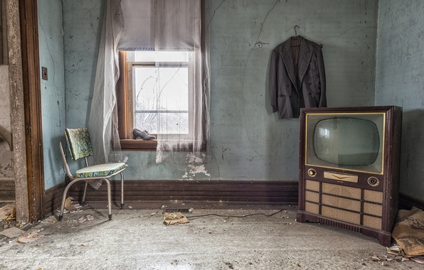 Picture TV, window, chair