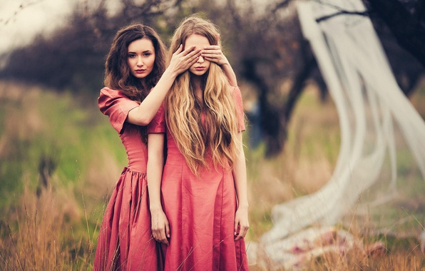 Picture hair, two girls, JOY, Marina Hakobyan, Victoria Gmira, Evgeny Sokolov