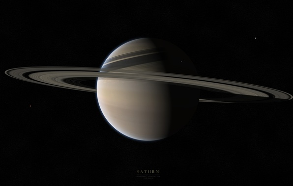 Picture stars, planet, ring, Saturn, gaz giant