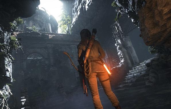 Picture bow, Lara Croft, arrows, Square Enix, quiver, Lara Croft, Crystal Dynamics, Rise of the Tomb …