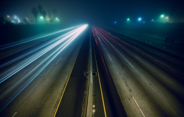 Picture road, auto, night, photo, Wallpaper, speed, track, picture, different