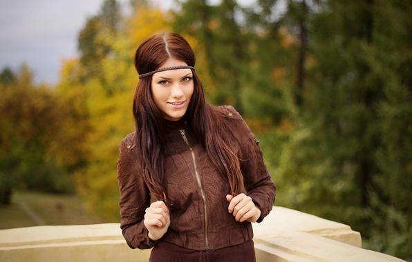 Picture Girl, Autumn, Forest, Balcony, girl, Jacket, Beautiful, Wood, Autumn, Beautiful, cute, Cute, Jacket, Balcony, Regina …