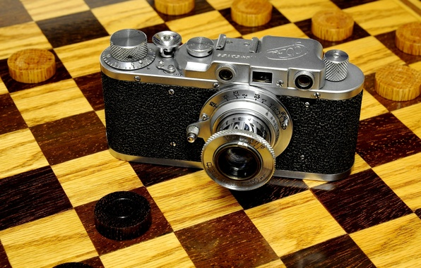Picture tree, the camera, lens, case, Board, Fed, Soviet, checkers, rangefinder, viewfinder, rarity, rangefinder