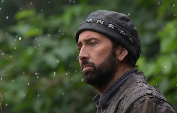 Photo wallpaper hat, blur, Nicolas Cage, beard, Nicolas Cage, In exile, Outcast