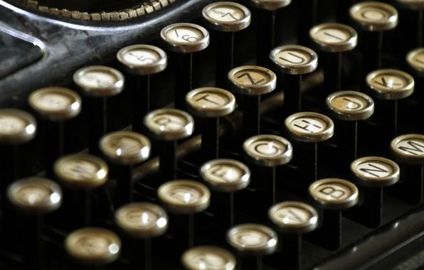 Picture retro, keys, button, machine, vintage, retro, vintage, old, printed, old, typewriter