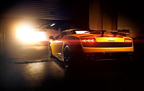 Picture Lamborghini, Superleggera, Gallardo, Sun, Yellow, LP570-4