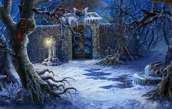 Znalezione obrazy dla zapytania dark winter wallpaper