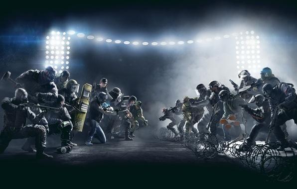 Picture Gun, Police, Light, Weapons, Shield, COP, The bandits, Shotgun, Special forces, Equipment, Storm, Ubisoft Entertainment, …