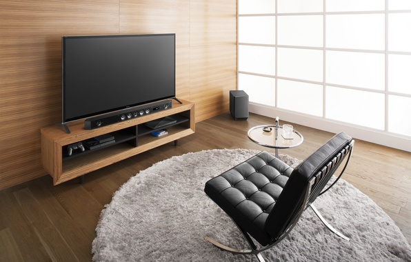 Picture interior, chair, logo, Sony, hi-tech, HT-ST9, Soundbar