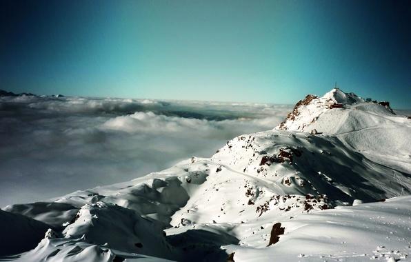 Picture winter, snow, landscape, mountains, nature, fog, winter, mountains, snow