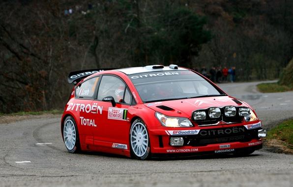 Picture Red, Auto, Road, Sport, Machine, Asphalt, Citroen, Citroen, Lights, Red Bull, WRC, Rally, Rally, Sebastien …