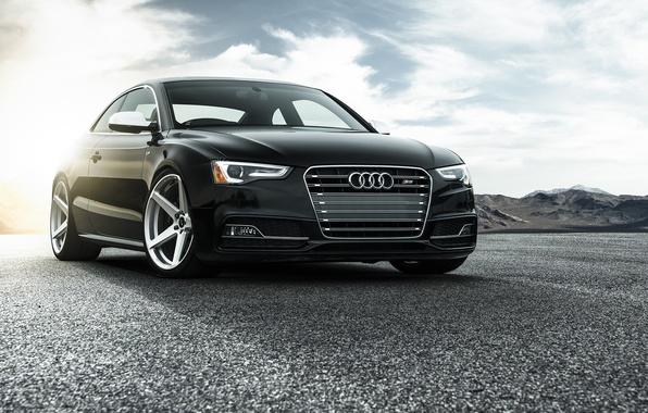 Picture Audi, Car, Vorsteiner, Black, Sun, Wheels, V-FF, Added, 104