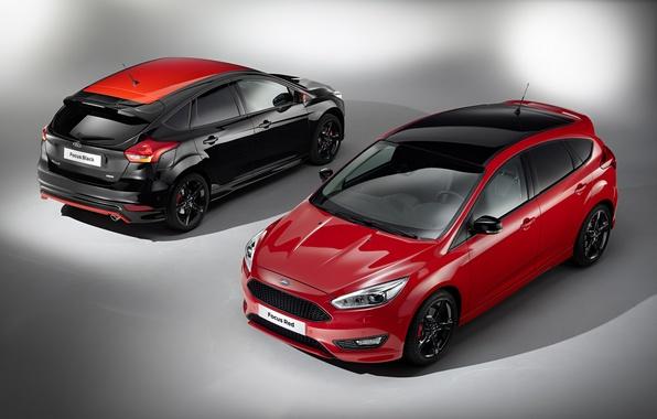 Picture Ford, focus, Red, Focus, Ford, Black, US-spec, 2015