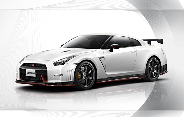 Picture Nissan, white, GT-R, R35, Nismo
