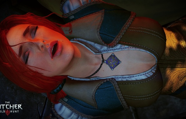 Picture Medallion, Red hair, the witcher 3 wild hunt, Triss