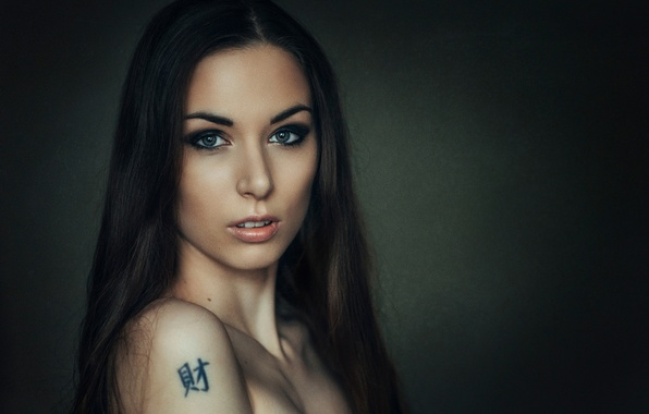 Picture shoulder, tattoo, Masha, just Mary