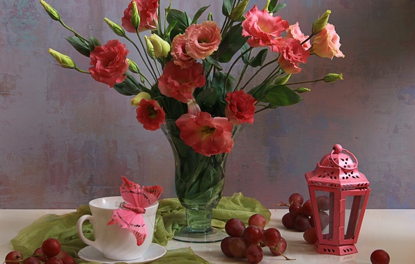 Picture flowers, petals, still life