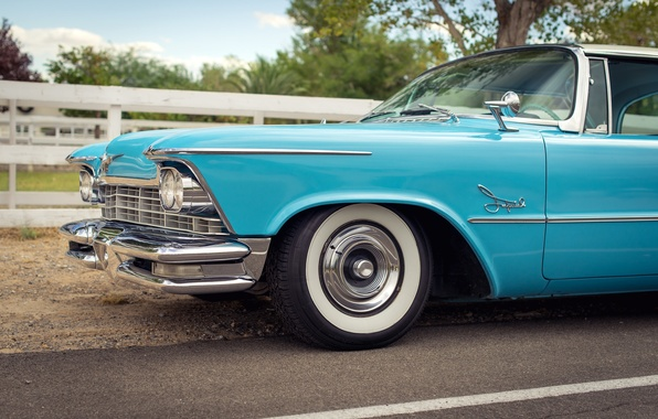 Picture retro, Imperial, Chrysler, side view, classic, 1957