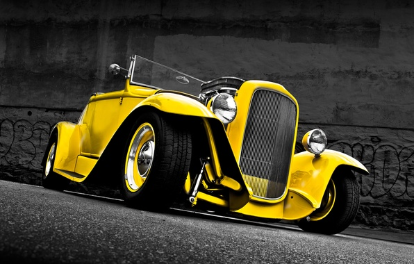 Picture retro, Ford, Convertible, Ford, classic, 1932, Convertible