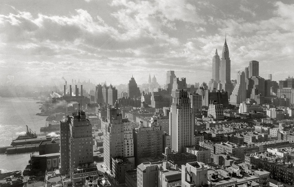 Picture the city, photo, building, home, black and white, New York, skyscrapers, picture, Manhattan, New York …
