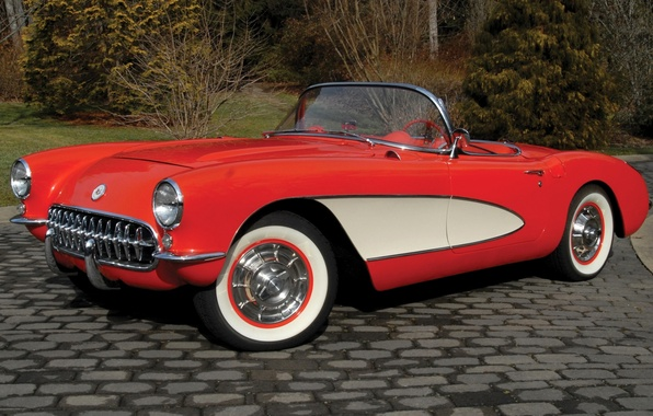 Picture red, Corvette, Chevrolet, Chevrolet, the front, Corvette