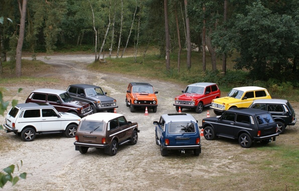 Picture forest, background, tuning, jeep, SUV, Lada, tuning, Lada, 4x4, Niva, Niva, An