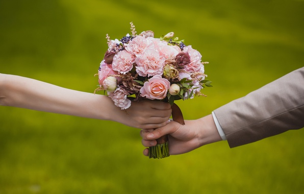Picture love, flowers, romance, roses, bouquet, love, flowers, Wedding, bouquet, roses, romance, Wedding, the bride and …