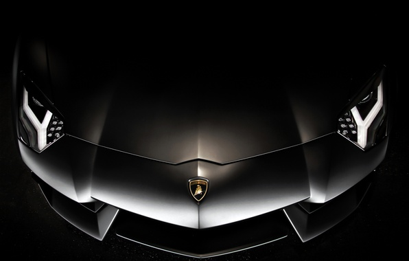 Picture background, black, before, lamborghini, black, aventador, lp700-4, Lamborghini, aventador