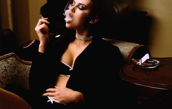 Picture smoke, furniture, glamour, Cigarette