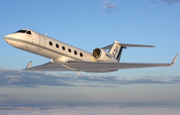 Photo wallpaper USA, twin-engine, business class, Gulfstream G450, average, the plane, turbofan