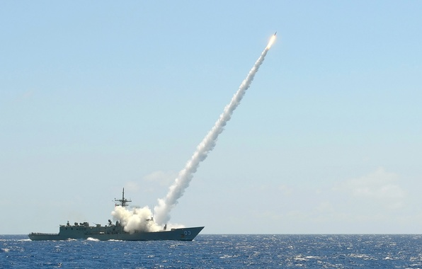 "Picture sea, wave, goal, rocket, frigate, start, type, ""Saxony"", Sachsen-Class, German Navy"