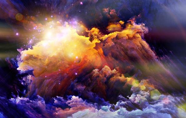 Picture light, paint, smoke, brightness