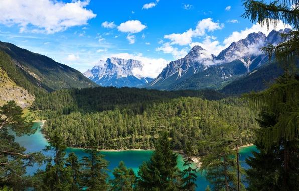 Picture mountains, Austria, Rasthaus Zugspitzblick