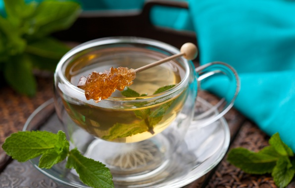 Photo wallpaper Tea, macro, candy, black tea, green tea