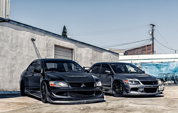 Picture black, grey, mitsubishi, lancer, evolution, Lancer, Mitsubishi, evolution, take