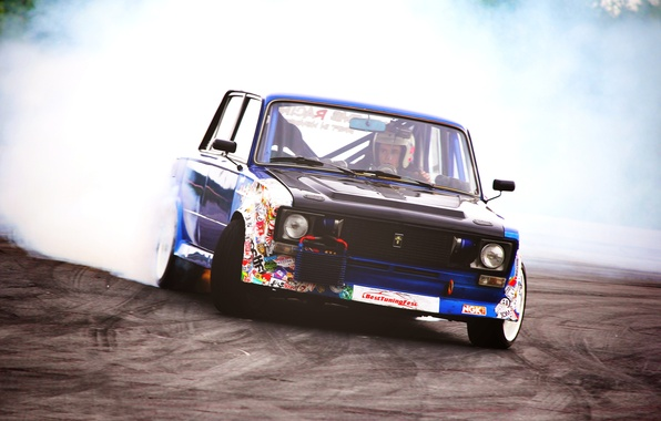 Picture competition, smoke, Drift, VAZ, VAZ 2106