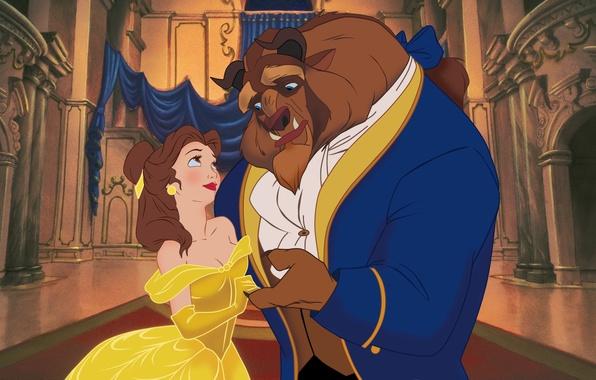 Picture castle, cartoon, dance, Disney, Belle, Disney, prince, enchanted Prince, fairytale, Beauty and the Beast, Belle, …