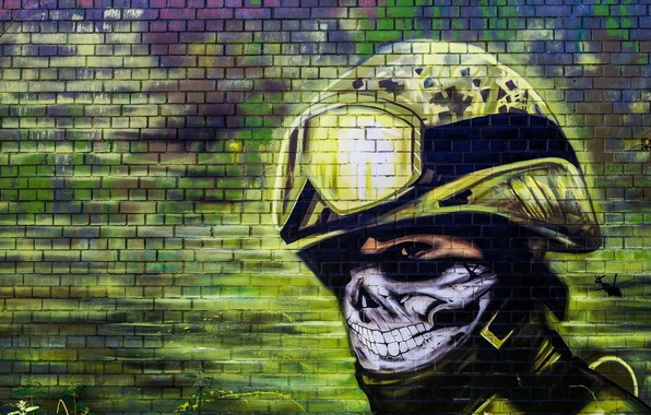 Picture surface, wall, graffiti, texture, team, graffiti, police, special forces, brick, special forces, wallpaper., quick, response, …