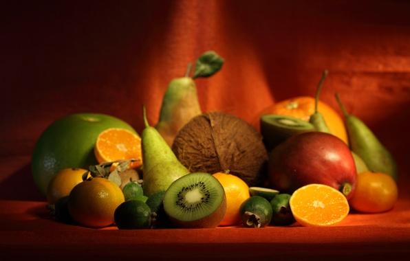 Picture berries, bananas, Fruit, appetite