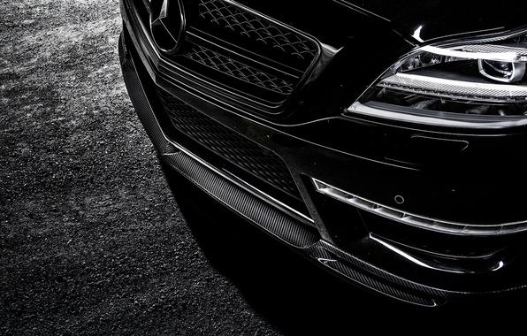 Picture face, lights, Mercedes-Benz, Mercedes, bumper, AMG, Black, Sedan, C218, CLS 63, 2015, CLK-Class, chernyb sedan