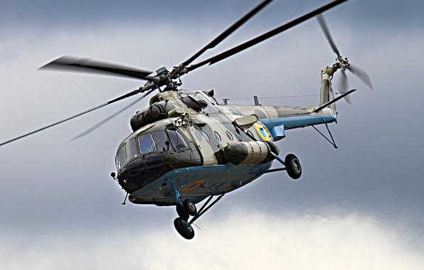 Picture helicopter, Ukraine, blades, Mi 8