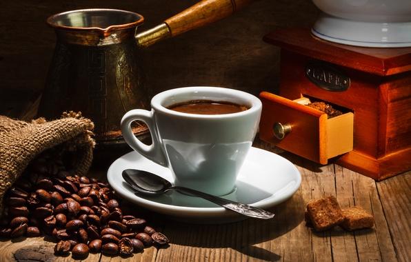 Photo wallpaper saucer, Cup, grain, drink, coffee, spoon