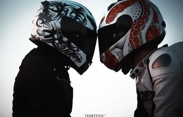 Picture photographer, helmet, motorcyclist, photography, photographer, Thirteen